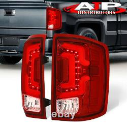 Red Tube LED Stop Tail Lights Lamp For 2014-2018 Silverado 1500 2500HD 3500HD