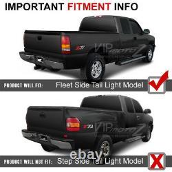 SINISTER BLACK 1999-2002 Chevrolet Silverado 1500 2500 LED Tail Lights Lamps