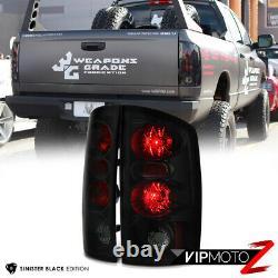 SINISTER BLACK 2002-2006 Dodge Ram 1500 2500 3500 Smoke Tail Lights Brake Lamp
