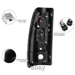 SINISTER BLACK For 03-06 Silverado 1500 2500 3500HD LED Neon Brake Tail Light