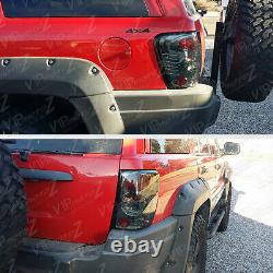 SMOKE LEFT+RIGHT For 99-04 JEEP Grand Cherokee Laredo Limited Tail Light LED