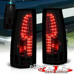 Smoke Brake Stop Tail Lights Lamps Pair For 1988-1999 Chevy GMC C10 C1500 C2500