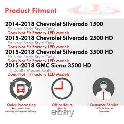 Smoke Tube LED Brake Tail Lights Lamp For 2014-2018 Silverado 1500 2500HD 3500HD