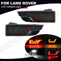 Smoked Dynamic LED Tail Light Assembly 4IN1 Lamp For Range Rover Evoque 2012-18