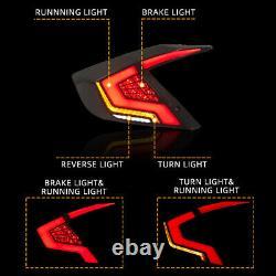 Smoked LED Tail Lights For Honda Civic 2016-2019 Rear Brake Turn Lamps Assembly