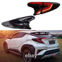 Smoked LED Tail Lights For Toyota CHR 2018-2019 Rear Lamps Assembly Brake Turn