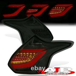 Smoked LED Tube Brake Tail Lights Lamp Left+Right For 2012-2014 Ford Focus Hatch