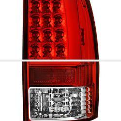 TRD STYLE L+R Red LED Neon Tube Tail Light Brake Lamp For 05-15 Toyota Tacoma