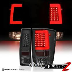 TRON STYLE O. L. E. D STrIp Smoked Tail Light Assembly For 2004-2015 Nissan Titan