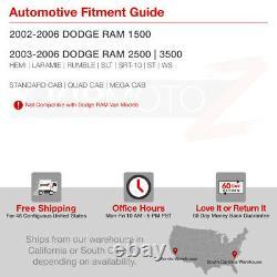 VIPMOTOZ For Dodge Ram Truck 02-06 Smoke LED Tail Light Brake Lamp LEFT+RIGHT
