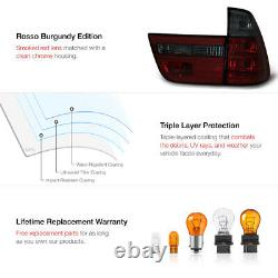 WINE RED SMOKE For 00-06 BMW X5 E53 Rear Signal Brake Tail Light LEFT+RIGHT