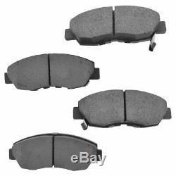Wheel Hub Premium Posi Ceramic Brake Pad Rotor Kit Front for Acura Honda New