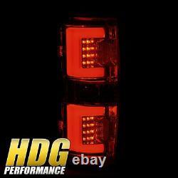 White Streak LED Style Black Housing Tail Lights Lamps Upgrade For 09-14 F150