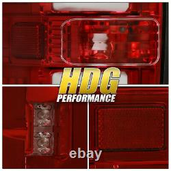 White Tube Streak LED Style Red Housing Tail Lights Lamps Upgrade For 09-14 F150